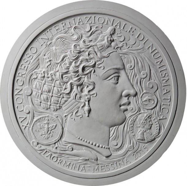 Medalla XV Congreso Internacional Numismatica. Gionatan Salzano