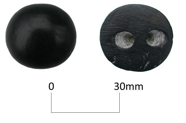 Botón cónico con perforacion en V
