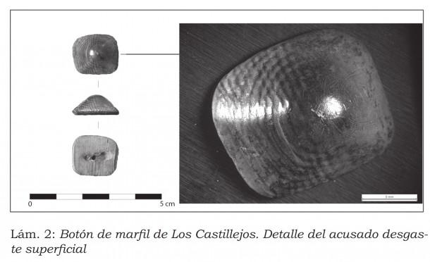Botón de Marfil de los Castillejos de Montefrío. Granada.