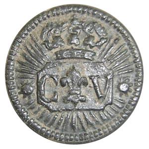 Botón de Carlos V. Botón de uniforme.
