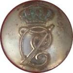 Botón de Carlos VII. Botón militar.