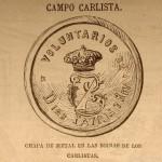 Distintivo de boina. Carlos VII.