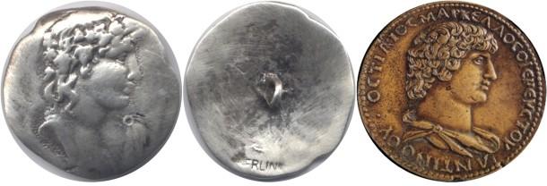 Botón de ANTINOO. Anepigrafe